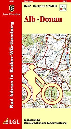 9783890217734: LGL BW 75 000 Rad Alb-Donau: Radfahren in Baden-Württemberg