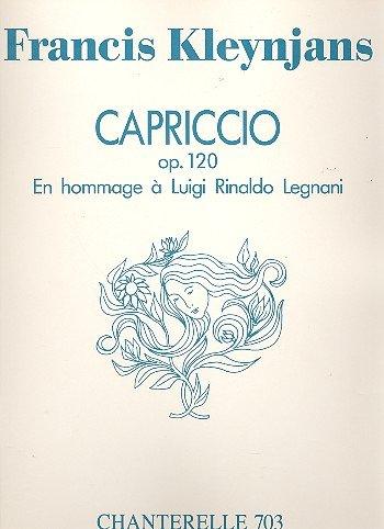 Capriccio op.120 : pour guitare En hommage: Francis Kleynjans