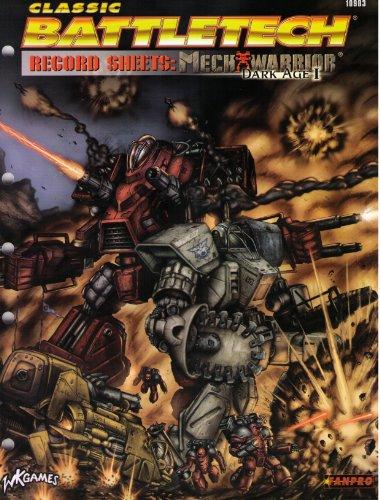Record Sheets: Mechwarrior 1 (Battletech)