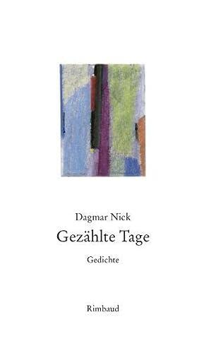9783890869476: Gezählte Tage: Gedichte (1986)