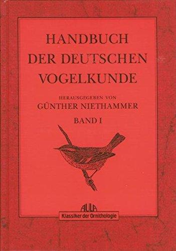 9783891045947: Handbuch der deutschen Vogelkunde Klassiker der Ornithologie