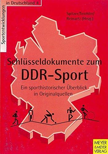 9783891245132: Schlüsseldokumente zum DDR-Sport