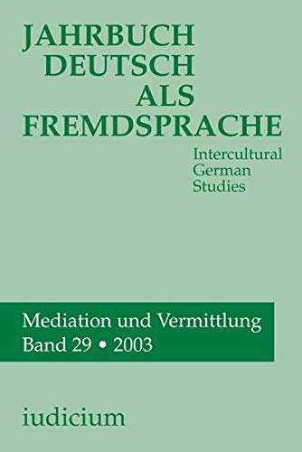 Jahrbuch Deutsch als Fremdsprache. (Intercultural German Studies).: Various Contributors