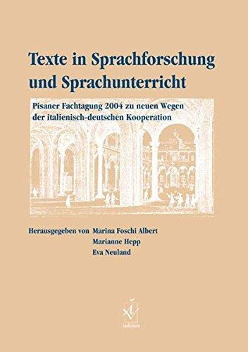 Texte in Sprachforschung und Sprachunterricht: Marina Foschi Albert