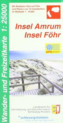 9783891302941: Insel Amrum - Insel Föhr 1 : 25 000: Mit Stadtplan Wyk auf Föhr und Plänen von 12 Inseldörfern im Maßstab 1:10 000, GPS-geeignet