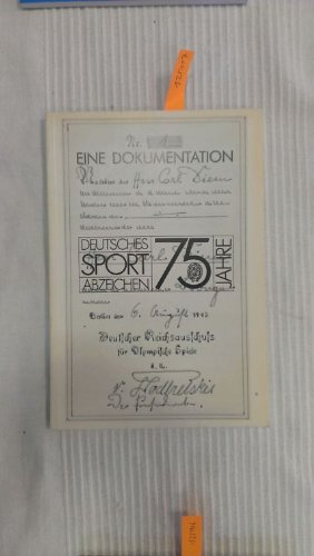 9783891523773: 75 Jahre Deutsches Sportabzeichen: Eine Dokumentation (Livre en allemand)