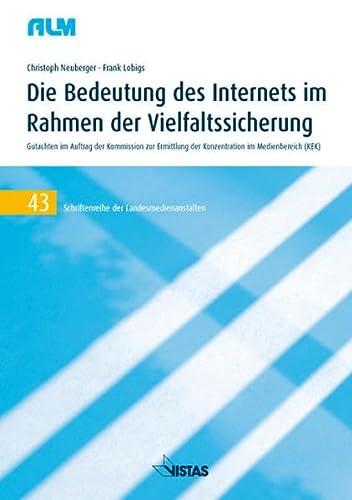 9783891585290: Die Bedeutung des Internets im Rahmen der Vielfaltssicherung