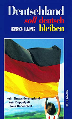 9783891800560: Deutschland soll deutsch bleiben: Kein Einwanderungsland, kein Doppelpass, kein Bodenrecht