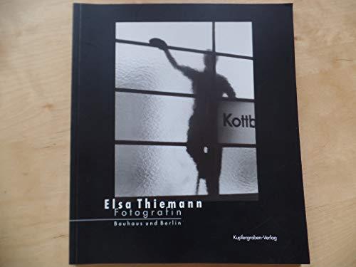 9783891813539: Elsa Thiemann. Fotografin.