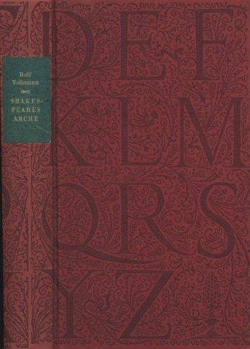 9783891902455: Shakespeares Arche. Ein Alphabet von Mord und Schönheit. (Die Andere Bibliothek Band 45.)