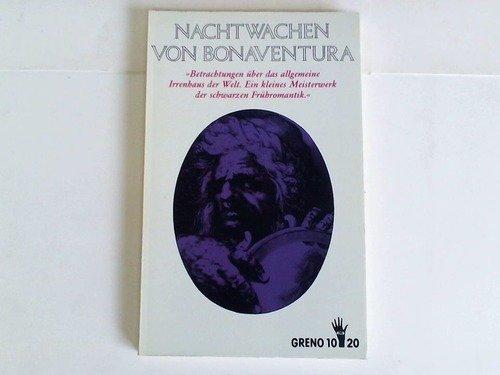 9783891908402: Die Nachtwachen. Der Roman der schwarzen Romantik