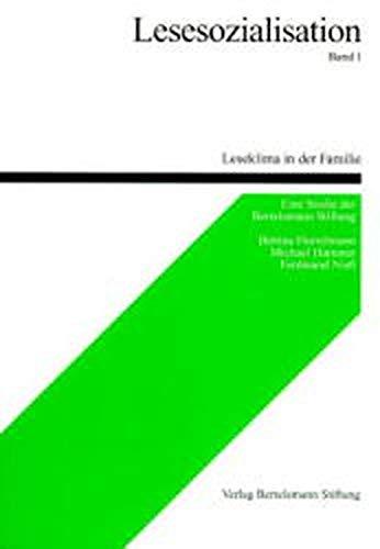 9783892040828: Lesesozialisation, Bd.1, Leseklima in der Familie