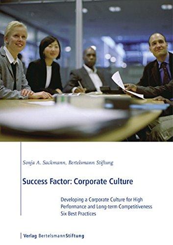 Success Factor: Corporate Culture: Developing a Corporate: Sackmann, Sonja A.