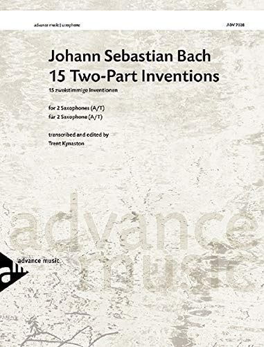 9783892215448: 15 Two-Part Inventions: For Alto and Tenor Saxophones, Score (Advance Music: Classics for Saxophone)