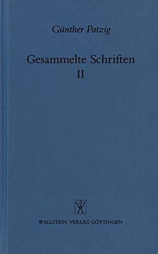 9783892440505: Gesammelte Schriften [Paperback] by Patzig, Gunther