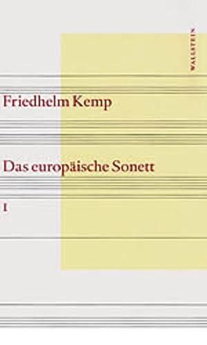 9783892444817: Das europäische Sonett