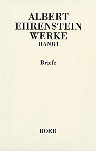 9783892447153: Werke I: Briefe: BD 1