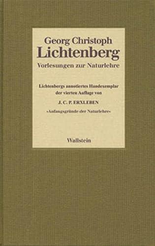 Vorlesungen zur Naturlehre: Georg Christoph Lichtenberg