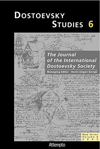 Dostoevsky Studies 6: Horst-Jürgen Gerigk