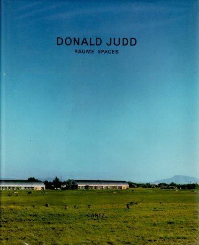 9783893226184: Donald Judd: Raume Spaces