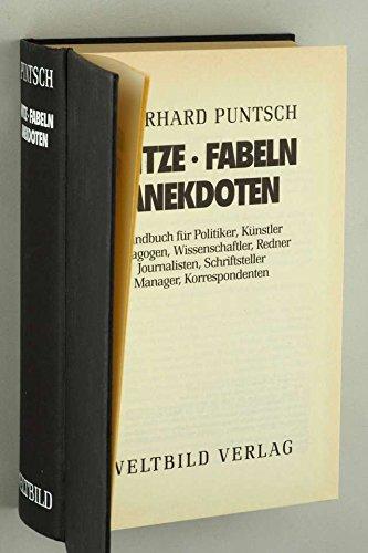 9783893502653: Witze, Fabeln, Anekdoten