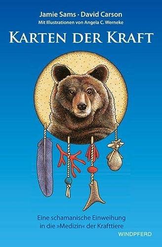 9783893856428: Karten der Kraft: Buch + 44 Tierkarten - Eine schamanische Einweihung in die »Medizin« der Krafttiere