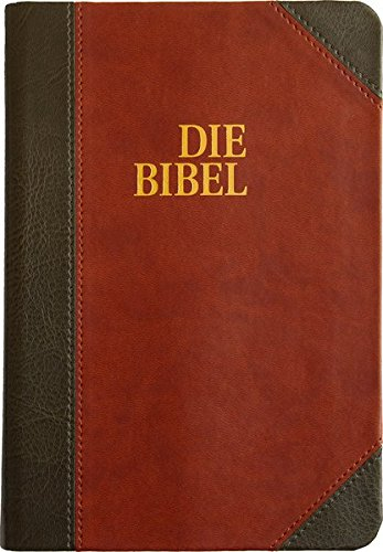 German Bible Die Bibel, Schlachter 2000, 2-toned Brown and Black, leather-soft, Contemporary Bible:...