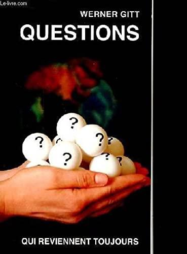 9783893971978: Questions - qui reviennent toujours