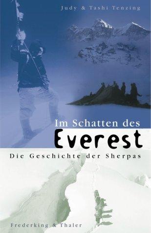 9783894056018: Im Schatten des Everest - Die Geschichte der Sherpas