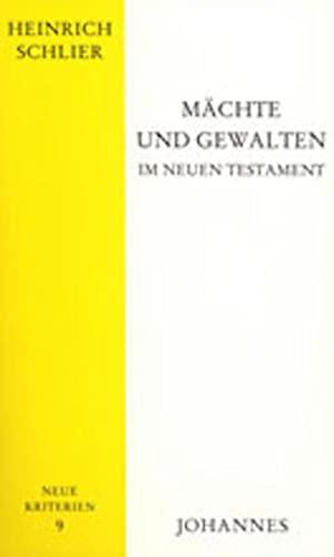 9783894113988: Mächte und Gewalten im Neuen Testament