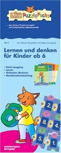 9783894140731: L+â-£K-PuzzleFuchs Set 4 Lernen und denken f+â-+r