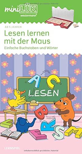 9783894143497: miniLÜK. Lesen lernen mit der Maus 1: Einfache Buchstaben und Wörter für Vorschulkinder