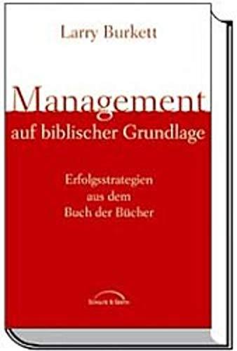 9783894378486: Management auf biblischer Grundlage.