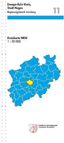 9783894395612: Ennepe-Ruhr-Kreis, Stadt Hagen 1 : 50 000