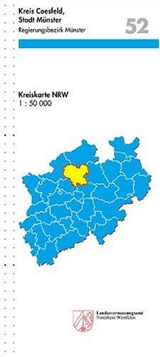 9783894395889: Kreiskarten Nordrhein-Westfalen, Bl.52 : Kreis Coesfeld, Stadt M�nster