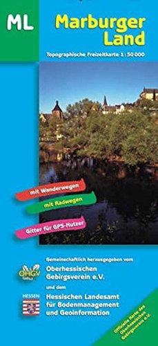 Marburger Land Ost und West. 1 : 50 000. Topographische Freizeitkarte: Mit Wanderwegen und ...