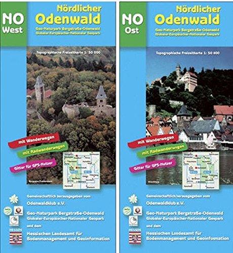 Nördlicher Odenwald West/Ost. 1 : 50 000. Topographische Freizeitkarte NO