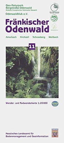 Fränkischer Odenwald 1 : 20 000. Topographische Freizeitkarte 11: Naturpark Bergstraße -...