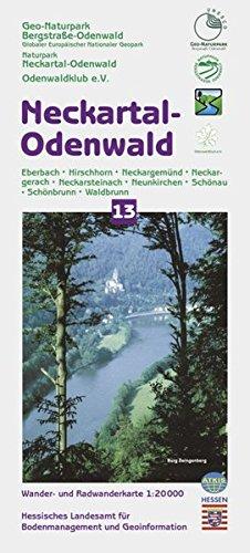 Neckartal-Odenwald 1 : 20 000. Topographische Freizeitkarte 13