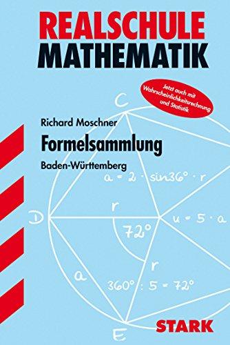 9783894493622: Formelsammlung Mathematik. Realschule Klasse 7 - 10. Baden-Wurttemberg.