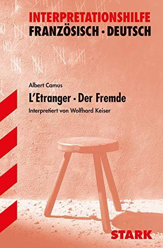 9783894495428: L' Etranger / Der Fremde. Interpretationshilfe Deutsch - Franzosisch.