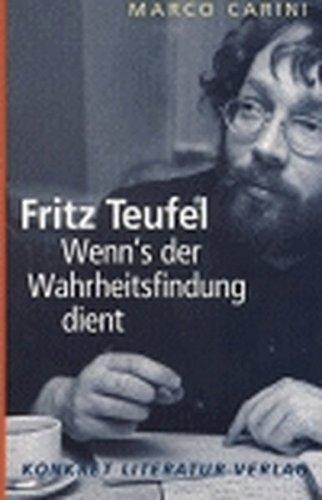 9783894582241: Fritz Teufel.