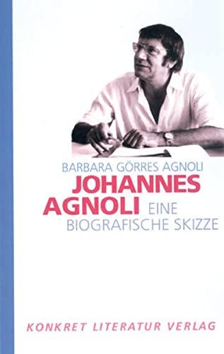 9783894582333: Johannes Agnoli: Eine biografische Skizze