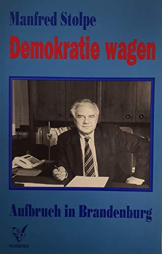 9783894720964: Demokratie wagen - Aufbruch in Brandenburg