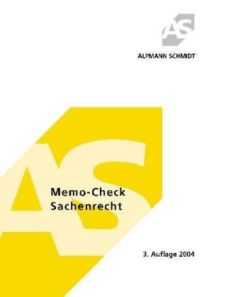 Beispielbild für Memo-Check Sachenrecht zum Verkauf von Eichhorn GmbH