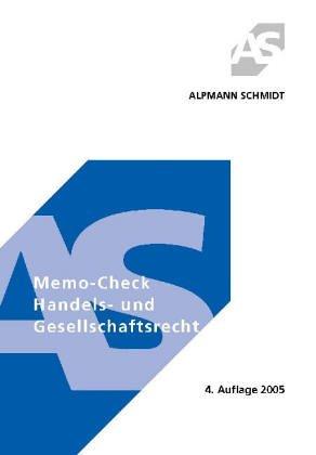 Beispielbild für Memo-Check Handels- und Gesellschaftsrecht zum Verkauf von Antiquariat BM