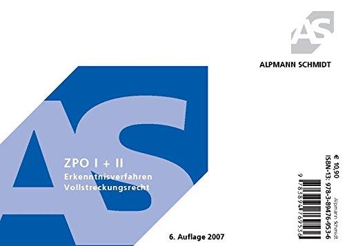 9783894769536: ZPO (Zivilprozeßordnung) 1/2. Karteikarten