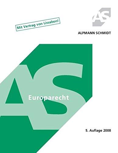9783894769789 Europarecht Mit Vertrag Von Lissabon Zvab Jörg