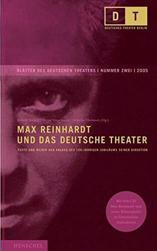 9783894875282: Max Reinhardt und das Deutsche Theater