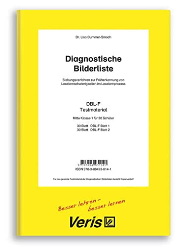 9783894930141: Die Diagnostischen Bilderlisten. Siebungsverfahren zur Früherkennung von Leselernschwierigkeiten im Leselernprozess / Die Diagnostischen Bilderlisten